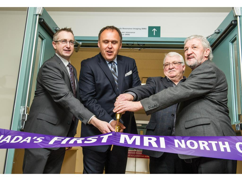 Ribbon is cut on the new MRI facility at WGH