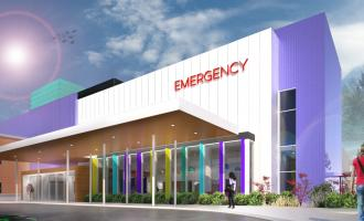 An artist rendering illustrates the conceptual design of the two-storey hospital wing to be built at Whitehorse General Hospital.